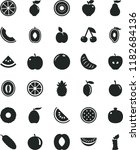solid black flat icon set... | Shutterstock .eps vector #1182684136