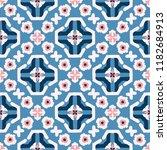 retro daisy floral vector...   Shutterstock .eps vector #1182684913