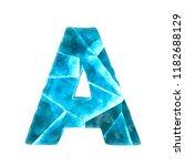 ice alphabet on white...   Shutterstock . vector #1182688129