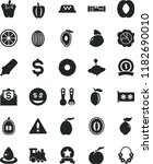 solid black flat icon set... | Shutterstock .eps vector #1182690010