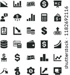solid black flat icon set... | Shutterstock .eps vector #1182692116