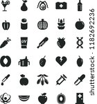 solid black flat icon set... | Shutterstock .eps vector #1182692236
