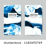set of vector business card... | Shutterstock .eps vector #1182693769