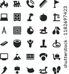 solid black flat icon set... | Shutterstock .eps vector #1182697423