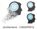 head cogwheel icon in dispersed ... | Shutterstock .eps vector #1182699076