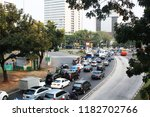 bad traffic on the streets of... | Shutterstock . vector #1182702766