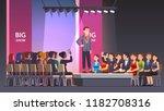 catwalk model man showing... | Shutterstock .eps vector #1182708316