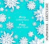 merry christmas and happy new... | Shutterstock .eps vector #1182711160