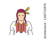 indigenous icon. cartoon... | Shutterstock .eps vector #1182712870