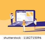 group of people with laptop... | Shutterstock .eps vector #1182715096