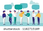 group of men talking characters | Shutterstock .eps vector #1182715189