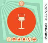 wineglass symbol icon | Shutterstock .eps vector #1182723073