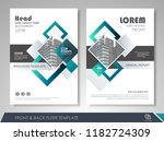 front and back page annual... | Shutterstock .eps vector #1182724309