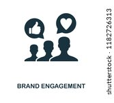 brand engagement icon....