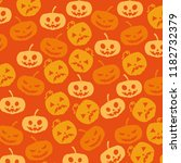 halloween card with pumpkin... | Shutterstock .eps vector #1182732379