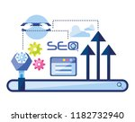 search engine optimization set... | Shutterstock .eps vector #1182732940