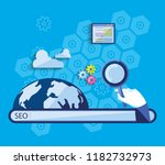 search engine optimization with ... | Shutterstock .eps vector #1182732973