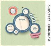 vintage web design bubbles.... | Shutterstock .eps vector #118273840