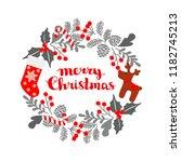 winter christmas frame  vector...   Shutterstock .eps vector #1182745213
