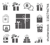 set of gift boxes icon | Shutterstock .eps vector #1182746746