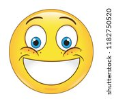 emoji smiling face vector...