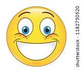 emoji smiling face vector...