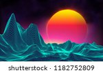 retro background futuristic... | Shutterstock .eps vector #1182752809