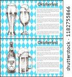 oktoberfest posters set beer... | Shutterstock .eps vector #1182755866
