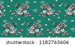 seamless floral pattern in... | Shutterstock .eps vector #1182763606