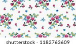 seamless floral pattern in... | Shutterstock .eps vector #1182763609