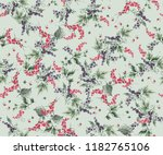 seamless pattern with currant... | Shutterstock . vector #1182765106
