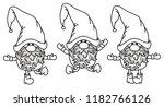 vector   gnomes cartoons  black ... | Shutterstock .eps vector #1182766126