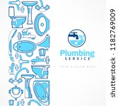 plumbing banner with logo for... | Shutterstock .eps vector #1182769009