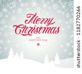 merry christmas and happy new... | Shutterstock .eps vector #1182770266
