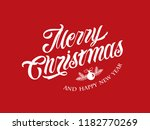 merry christmas vector text... | Shutterstock .eps vector #1182770269