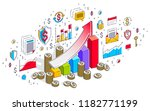 success and income increase... | Shutterstock .eps vector #1182771199
