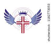 cross of christianity graphic... | Shutterstock .eps vector #1182773053