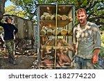 "agios efstratios  ""ai stratis""  ... | Shutterstock . vector #1182774220"