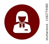 croupier icon in badge style.... | Shutterstock .eps vector #1182774580