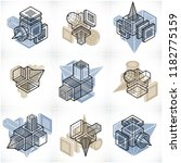 abstract constructions vector... | Shutterstock .eps vector #1182775159