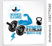weightlifting club promotion... | Shutterstock .eps vector #1182779260