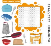 word search puzzle. vector... | Shutterstock .eps vector #1182779656