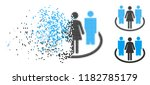 society icon in dissolved ... | Shutterstock .eps vector #1182785179