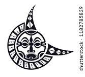 maori   polynesian tattoo style ... | Shutterstock .eps vector #1182785839