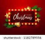 christmas background. retro... | Shutterstock .eps vector #1182789556