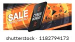 banner sale for cyber monday. a ...   Shutterstock .eps vector #1182794173