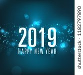 happy new year 2019 text design ... | Shutterstock .eps vector #1182797890