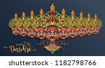 happy dussehra festival card... | Shutterstock .eps vector #1182798766