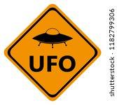 danger road signs ufo | Shutterstock .eps vector #1182799306