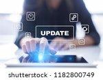 update on virtual screen.... | Shutterstock . vector #1182800749